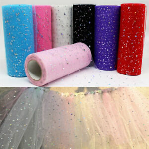Glitter Sequin Tutu Tulle Dress Roll Craft Fabric Wedding Bridal Party Decor DIY