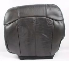 1999 2000 2001 2002 Chevy Silverado Bottom Driver Leather Seat Cover Dark Gray