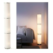 Ikea VIDJA Floor Lamp,White,Diffused & Decorative Light,Textile Shade,138cm High