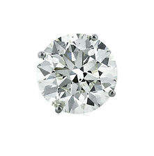 0.73 ct Round Cut Diamond Single Stud Earring I color SI1 14K White Gold #190
