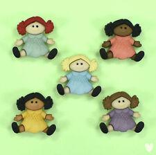 DRESS IT UP Buttons Baby Dolls  - Girls Rag Children Buttons Galore