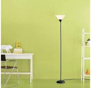 Room Essentials Torchiere 71 inch Floor Lamp, Black