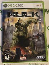 The Incredible Hulk~ Xbox 360~ Game Tested, Works! Sorry No Manual, MARVEL, SEGA