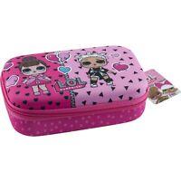 L.O.L. Surprise Pink School Pencil Box Pouch Gadget Makeup Case Girls LOL