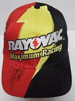 2000 JASON JARRETT AUTOGRAPHED SIGNED RAYOVAC RACING NASCAR HAT WITH CASE & COA