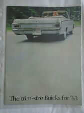 BUICK Trim Taille Gamme brochure 1963 USA MARKET