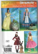 Simplicity 2827 Halloween Costume for Misses Princess Santa Sewing Pattern 6-12