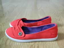 Blowfish Malibu Ladies or Girl's Canvas Pumps Red Size 3 / 36