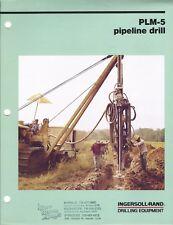 Equipment Brochure - Ingersoll-Rand - Plm-5 - Pipeline Drill - 1983 (E4752)