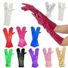 New Ladies Long Finger Gloves Elegant Fancy Party Dress Evening Wedding 20/30S