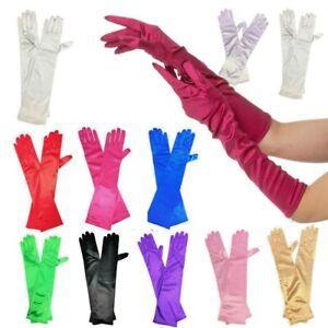 New Ladies Long Finger Gloves Elegant Fancy Party Dress Evening Wedding 20/30S