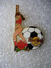 MANCHESTER,Hard Rock Cafe Pin,Soccer Ball Player XXX babe