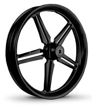 "DNA ""ICON"" GLOSS BLACK FORGED BILLET WHEEL 18"" X 5.5"" REAR HARLEY DYNA  SOFTAIL"