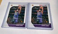 Lebron James Lot (x2) 2019-20 Panini NBA Hoops Base #87 Los Angeles Lakers