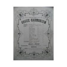 BACH J. S. Fugue Orgue Harmonium ca1860 partition sheet music score