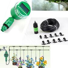 "10m/33"" Garden Misting Irrigation Cooling W 10 mister nozzle & Timer Controller"