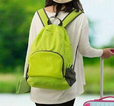 Rose red Outdoor Travel Bags Multifunctional foldable nylon waterproof backpack