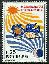 Italy 977, Mnh. Stamp Day. Day and Night, Pigeon, 1967