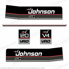 Johnson 1987-1988 120hp V4 VRO Decal Kit - Discontinued Decal Reproductions