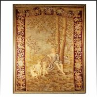 "HUGE 33"" x 26.5"" C 1830s Antique French Needlepoint, Petitpoint Tapestry, Frame"