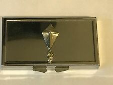Kite TG154 Pewter On Mirrored 7 Day Pill box Compact