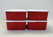 Tupperware 4x réfrigérateur 2,5 L froid de coin, fraîcheur maître, rouge