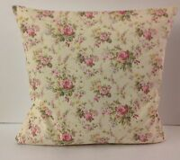 SHABBY CHIC-STYLE TINY PINK ROSE AND LEMON  FLOWERS SINGLE CUSHION COVERS