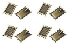 10 Bronze Bezel Charms Cabochon Settings Stamp Charms LF NF Clearance