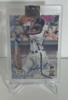 2020 Topps Clearly Authentic YORDAN ALVEREZ Rookie Card AUTO RC #CCA-YA Astros🔥