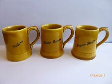 WADE THREE MINIATURE MUGS WITH PLACE NAMES