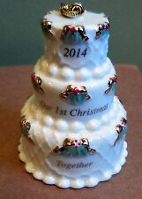 LENOX  2014 ORNAMENT OUR FIRST CHRISTMAS TOGETHER WEDDING CAKE ORNAMENT
