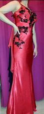 Robe haute couture soirée mariage sirène mermaid rouge noire dress 38 jovani