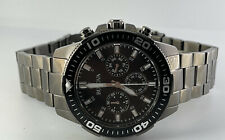Bulova Mens 98A249 Chronograph 42MM Stainless Steel Watch Black Stainless