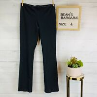 Eileen Fisher Womens Knit Pants Slate Gray Stretchy Mid Rise Straight Leg Size 4
