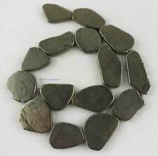 "Natural 16X25-15X35mm Freeform Graduated Pyrite Gemstone Beads 15"""