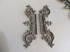 Victorian Brass Faux Hinges Church Hardware Gothic Gilt Ormolu Antiques Vintage