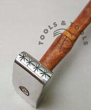 Mango oscuro Texturizado martillos Stars & Crosshatch Joyería Manualidades Metal Repujado