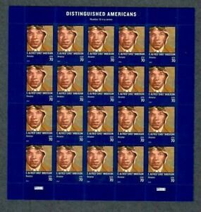 """#4879 MNH, C. ALFRED """"CHIEF"""" ANDERSON, DISTINGUISHED AMERICANS Sheet, FV $14.00"""