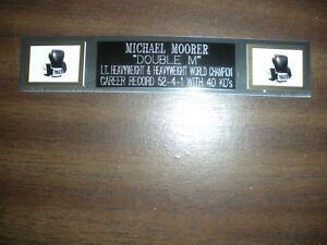 MICHAEL MOORER (BOXING) ENGRAVED NAMEPLATE FOR PHOTO/POSTER/GLOVES/TRUNKS