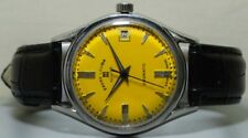 Vintage Favre Leuba Daymatic Swiss Made Wrist Watch s115 Old Used Antique