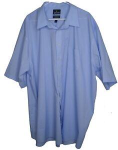 Mens Shirt Stafford light Blue SS Button front  20 Xtall  performance