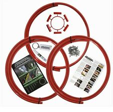 """AlloyGator Alloy Wheel Protection Protector Set of 4 RED Fits 13"""" to 21"""" Rims"""