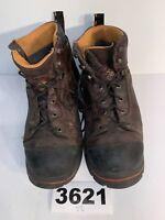 Timberland Pro Series Mens SZ12M  Brown Work Boots Steel Toe Anti-Fatigue 3621U2