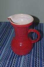 RARE Accolay French ceramic red glaze POTTERY era pop capron 50's 60's design