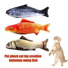1Pc Realistic Interactive Fish Plush Pillow Cat Pet Toy Catnip Stuffed Toys Surp