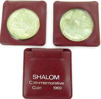 .3 x 1969 ISRAEL 10 LIROT SHALOM SILVER COMMEMORATIVE COINS.