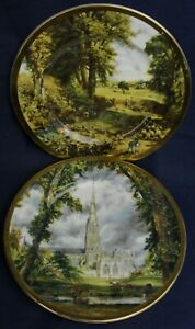 Finsbury fine china plates SALISBURY CATHEDRAL & THE CORNFIELDS John Constable