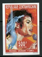 CENTRAL AFRICA  MICHAEL JACKSON  SCOTT#1097 IMPERF STAMP MINT NH