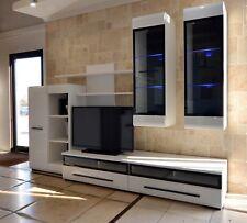 High quality wall unit, set, white gloss, led light, modern, 6 pieces, bargain!
