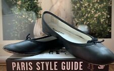 FRENCH Designer Brand REPETTO Black LEATHER Ballerina Flat Shoe Size 36 RRP$400